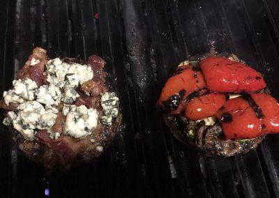 Blue Cheese Burger op de grill