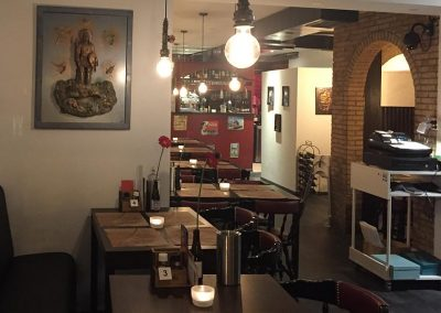 Interieur achter Joe's Burger & Steakhouse Restaurant in Leiden
